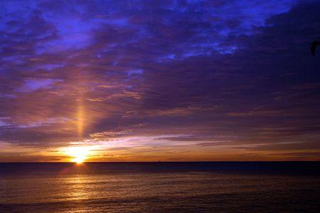 Beautiful winter sunrise over the atlantic ocean at Hampton Beach, NH Stock Photo - 844548