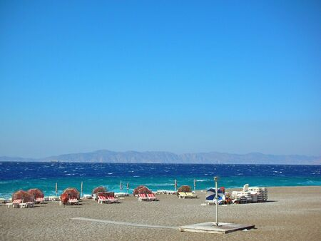 Windy Beach on the Island of Rhodes (Rodos), Greece Stock Photo - 860965