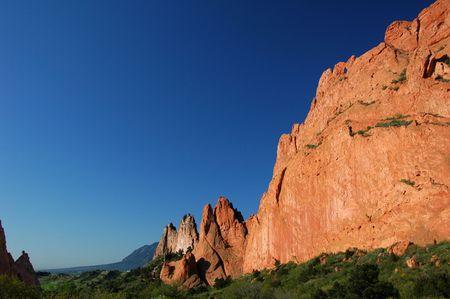 Kissing chameaux et de Red Rocks au Jardin des Dieux, Colorado Springs, CO
