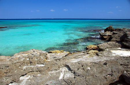 Eaux turquoise de la Riviera Maya, Mexique