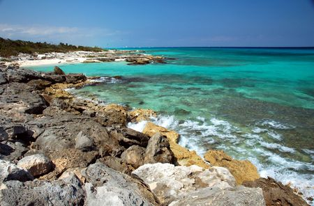Mayan Riviera Coastline, Mexico photo