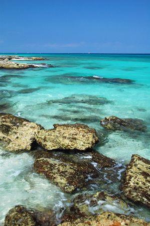 Crystal Clear Waters de la Riviera Maya, Mexique
