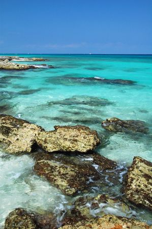 Crystal Clear Waters of the Mayan Riviera, Mexico