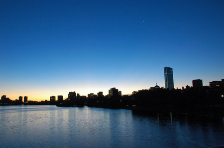 Sunrise in Boston from the Charles River