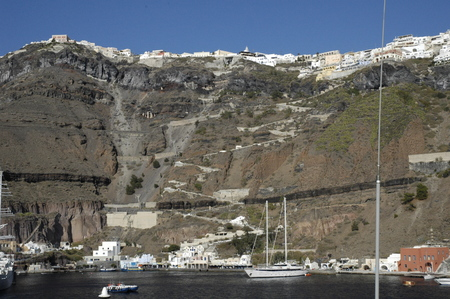 View of Santorini from the Harbor (Greece)