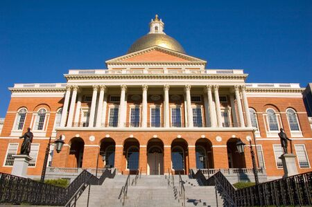 Massachusetts State House on Beacon Hill in Boston, MA
