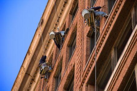 Window washers in Boston, MA