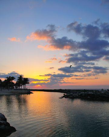 Lever du soleil le long de la Riviera Maya # 2 Banque d'images