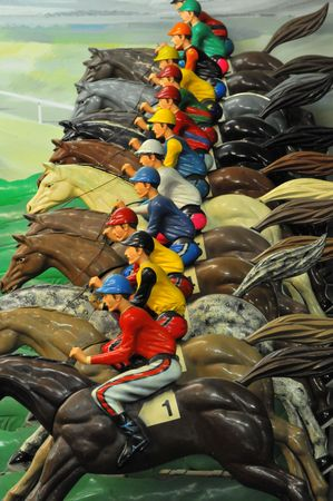 cavallo in corsa: Corsa di cavalli a uno Arcade # 1 Archivio Fotografico