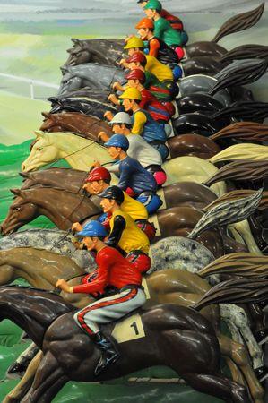 Course de chevaux � un Arcade # 1 Banque d'images