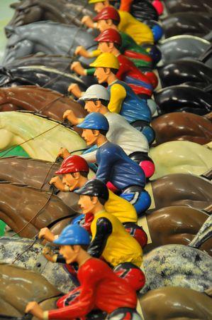 horse races: Carrera de caballos en una galer�a # 2