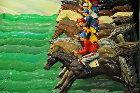 racehorses: Horse Race op een Arcade # 4 Stockfoto