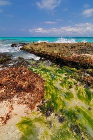 Mayan Riviera Coastline, Mexico Stock Photo