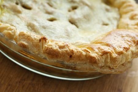 Fresh golden home made chicken pot pie photo