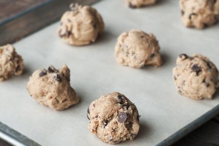 쿠키 반죽이 오븐 준비 완료