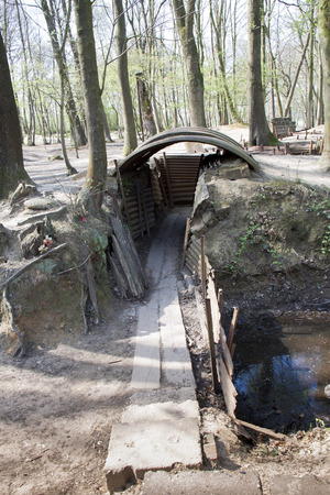 warzone: A beautifully Preserved First World War British trench system near Ypres, Belgium