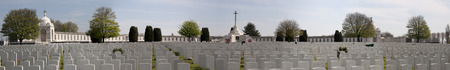 ypres: Tyne Cott Cemetery near Ypres Stock Photo