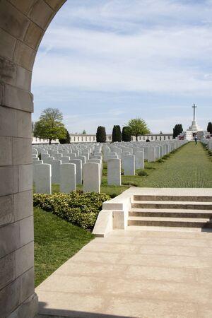 ypres: Tyne Cott Cemetery near Ypres Editorial