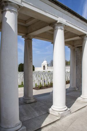 ypres: Tyne Cott Cemetery near Ypres Editorial
