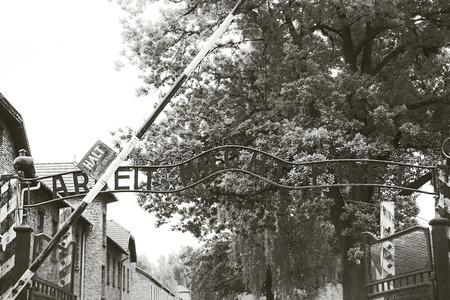 auschwitz: Auschwitz sign Editorial