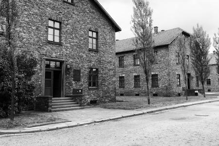 auschwitz: Barrack blocks at Auschwitz