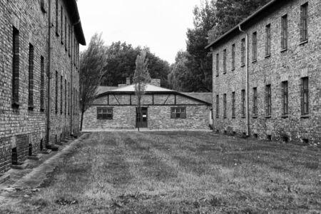 auschwitz memorial: The camp at Auschwitz
