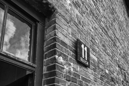 auschwitz memorial: Block 11 at Auschwitz - this is where prisoners were tried for crimes occuring inside the camp. The punishment was usually death.
