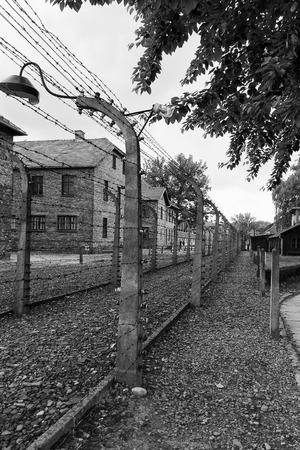 auschwitz: An electrified fence at Auschwitz