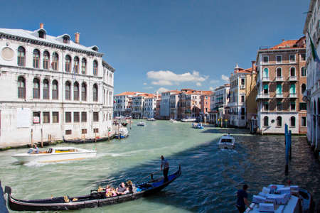grand canal: The famous Grand canal in Venice Editorial