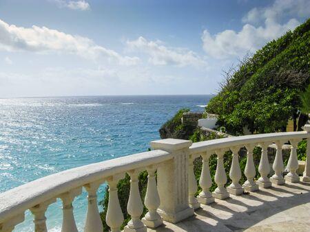 barbados: A beautiful view over the Barbados coast