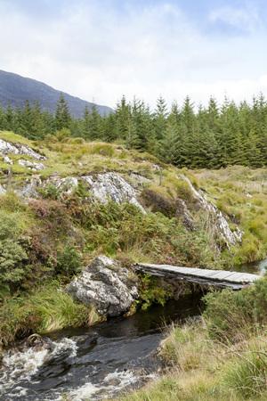 connemara: A bridge over a steam in the Connemara Mountains, Ireland