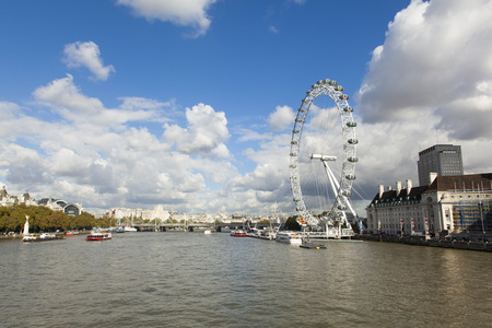 river thames: London Eye and the River Thames taken from Westminster Bridge Editorial
