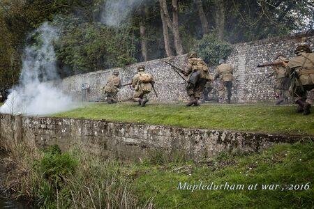 reenactment: WW2 re-enactment in Mapledurham, Oxfordshire