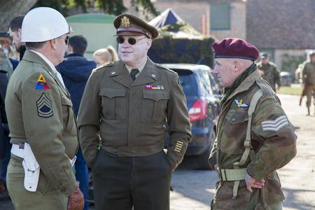 reenactment: Military WW2 re-enactment at Mapledurham, Oxfordshire,
