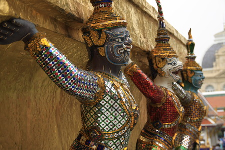 priceless: Mythical statues atThe Grand Palace, Thailand