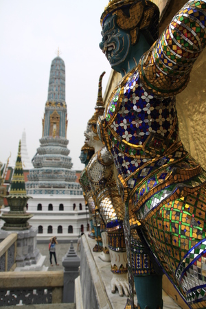 priceless: Statues at the Grand Palace, Thailand Editorial