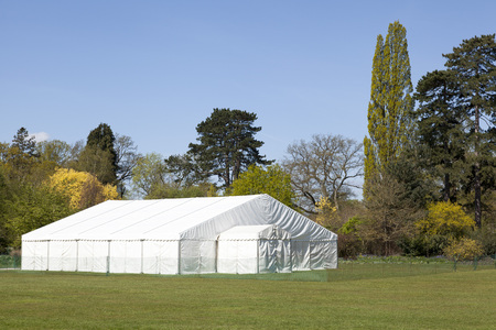 private party: A large Marquee in an open garden
