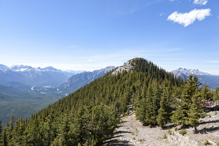 View from Sulphur Mountain, Banff National Park Stock Photo