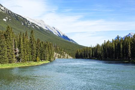Bow River, Banff Stock Photo