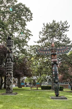 Thunderbird Park, Victoria, Vancouver Island Editorial