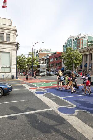 Colourful Douglas Street, Victoria , Vancouver Island