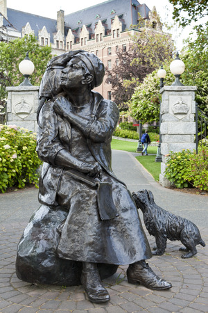 Statue of Emily Carr, Vancouver Island, Canada
