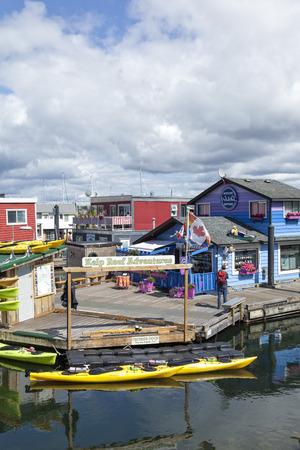 Fishermans Wharf, Victoria, British Columbia Editorial