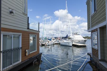 wharf: Fishermans Wharf, Victoria, British Columbia Editorial