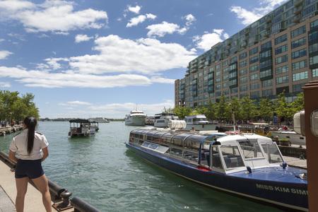 Harbourfront near ferry docks, Toronto Editorial