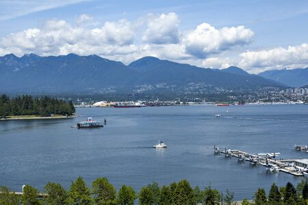 Water aeroplanes at Vancouver waterfront, British Columbia Editorial