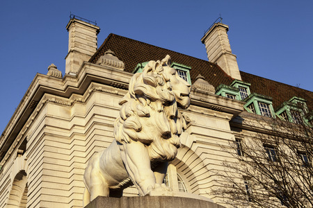 The South Bank Lion at Westminster
