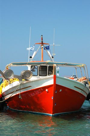 a beautiful fishing boat in the greek islands Stock Photo - 219128