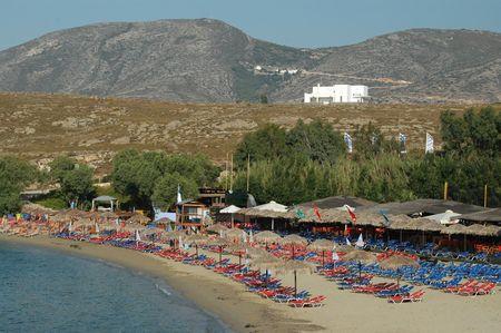 a beach resort in the greek islands photo