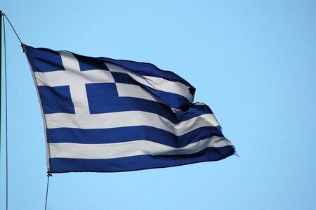 Flagge Griechenland Standard-Bild - 219089